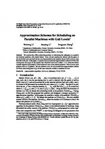 Approximation Schemes for Scheduling on Parallel Machines with GoS Levels
