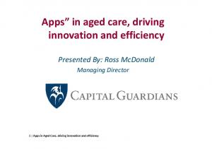 Apps in aged care, driving innovation and efficiency