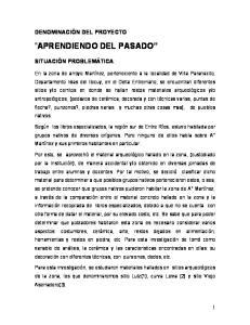APRENDIENDO DEL PASADO