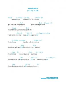 APRENDIMOS ( C - E ) = 106. Gm7 C7sus4 C7