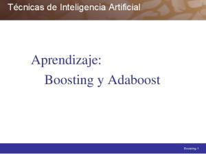 Aprendizaje: Boosting y Adaboost