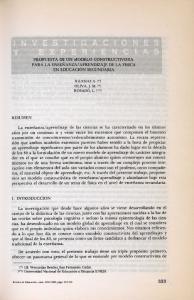 APRENDIZAJE DE LA FISICA EN EDUCACION SECUNDARIA