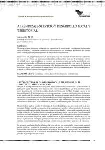 APRENDIZAJE-SERVICIO Y DESARROLLO LOCAL Y TERRITORIAL