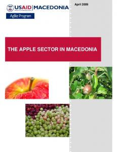 April 2009 THE APPLE SECTOR IN MACEDONIA