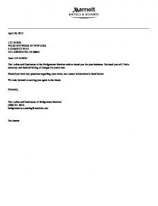 April 26, 2012 LEE BEKIR POLIO NETWORK OF NEW JERS 4 CORONET WAY HILLSBOROUGH, NJ Dear LEE BEKIR :