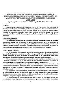 (Aprobada por Consejo de Gobierno de 27 de mayo de BOUA de 2 de julio)