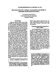 Aproximación del realismo matemático de Gödel al realismo constructivo de Zubiri
