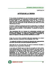 APTITUD DE LA TIERRA