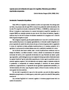 Apuntes acerca de la historia de la soja en la Argentina. Elementos para delinear experiencias comparadas