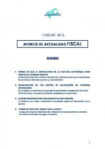 APUNTES DE ACTUALIDAD FISCAL