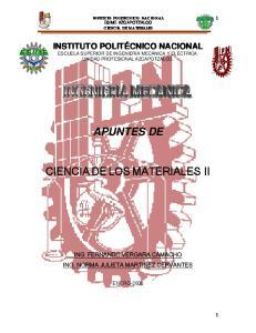 APUNTES DE CIENCIA DE LOS MATERIALES II