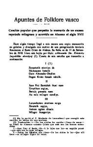 Apuntes de Folklore vasco