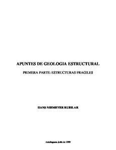 APUNTES DE GEOLOGIA ESTRUCTURAL