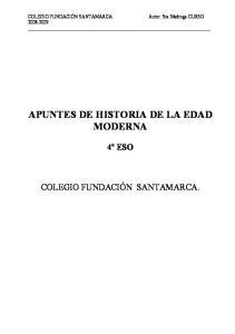 APUNTES DE HISTORIA DE LA EDAD MODERNA