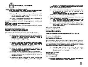 APUNTES DE LITERATURA