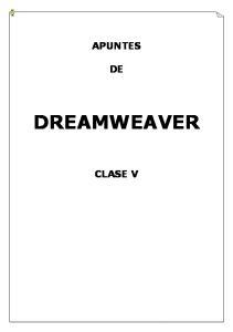 APUNTES DREAMWEAVER CLASE V