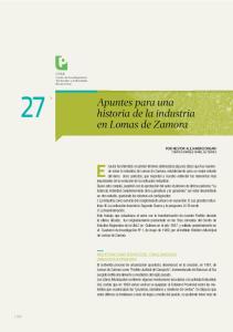 Apuntes para una historia de la industria en Lomas de Zamora