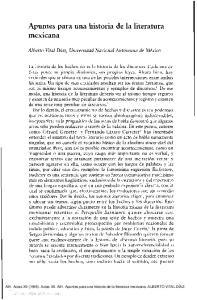 Apuntes para una historia de la literatura mexicana