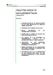 Apuntes sobre la actualidad Fiscal