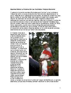 Apuntes Sobre La Historia De Los Huicholes: Historia Reciente