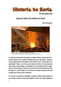 Apuntes sobre los metales en Soria