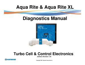 Aqua Rite & Aqua Rite XL. Diagnostics Manual