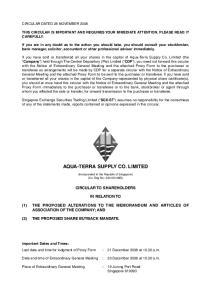 AQUA-TERRA SUPPLY CO. LIMITED
