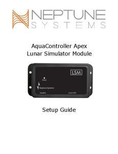 AquaController Apex Lunar Simulator Module. Setup Guide