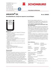 AQUAFIN -2K. Instrukcja techniczna. Nr art Dwuskładnikowa, elastyczna zaprawa uszczelniająca