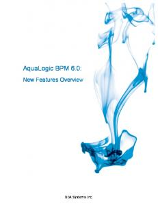 AquaLogic BPM 6.0: New Features Overview. BEA Systems Inc