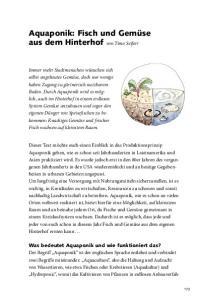 Aquaponik: Fisch und Gemüse aus dem Hinterhof von Timo Seifert