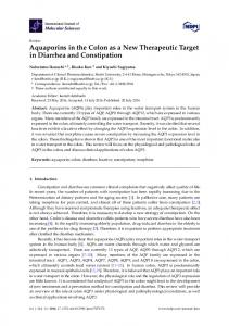 Aquaporins in the Colon as a New Therapeutic Target in Diarrhea and Constipation