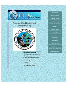 Aquarium Club Members and Hobbyist Catalog