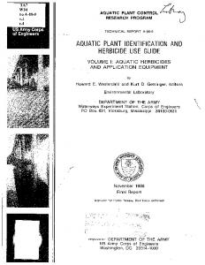 AQUATIC PLANT IDENTIFICATION AND HERBICIDE USE GUIDE