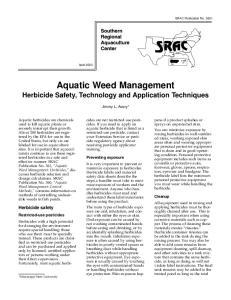 Aquatic Weed Management