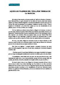 AQUELLOS VIAJEROS DEL VINO...POR TIERRAS DE LA MANCHA