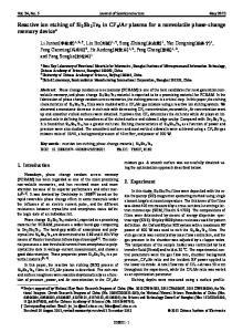 Ar plasma for a nonvolatile phase-change memory device