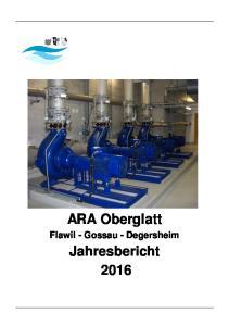 ARA Oberglatt. Flawil - Gossau - Degersheim