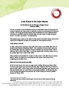 Arab Women in the Labor Market