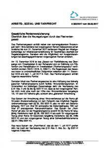 ARBEITS-, SOZIAL- UND TARIFRECHT A