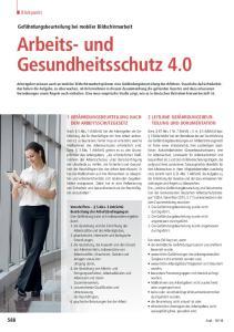 Arbeits- und Gesundheitsschutz 4.0