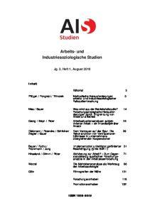 Arbeits- und Industriesoziologische Studien
