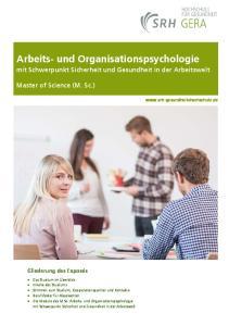 Arbeits und Organisationspsychologie