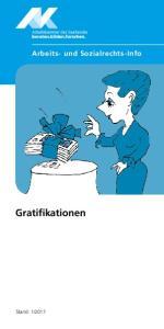 Arbeits- und Sozialrechts-Info. Gratifikationen