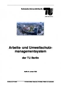 Arbeits- und Umweltschutzmanagementsystem