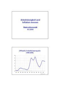 Arbeitslosigkeit und Inflation messen