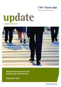 Arbeitsrecht. Aktuelle Informationen des Fachbereichs Arbeitsrecht. September