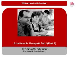 Arbeitsrecht Kompakt Teil I (Part 2)