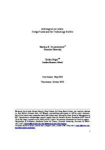 Arbitrage at its Limits: Hedge Funds and the Technology Bubble. Markus K. Brunnermeier * Princeton University. Stefan Nagel ** London Business School
