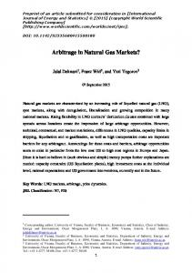 Arbitrage in Natural Gas Markets?